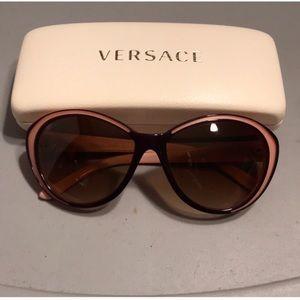 Pink & Brown Versace sunglasses